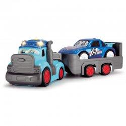 DICKIE Happy Ciężarówka z Przyczepą i Autem Wyścigowym
