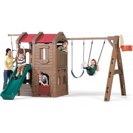 Ogromny Plac Zabaw z Koszem Huśtawka Dla Dzieci Step2