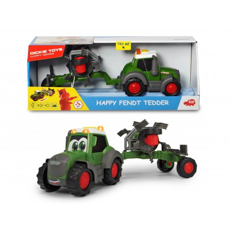 DICKIE Happy Traktor Fendt i Przetrząsacz 30 cm