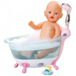 BABY BORN INTERAKTYWNA LALKA + WANIENKA Z PRYSZNICEM
