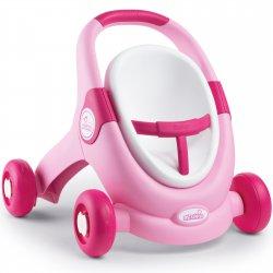 Smoby MiniKiss Chodzik Pchacz 3w1 Wózek dla Lalek Różowy