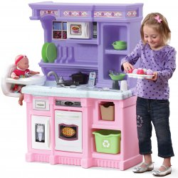 Step2 Olbrzymia Interaktywna Kuchnia Dla Dzieci 2w1 Kącik Opiekunki z Krzesełkiem do Karmienia