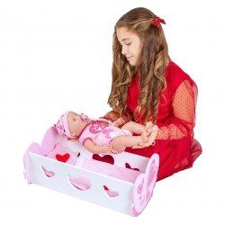 Interaktywna Lalka Baby Born w Zestawie z Kołyską Łóżyczkiem Classic World