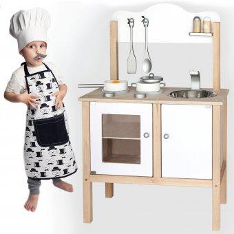 Viga Duża Drewniana Klasyczna kuchnia z akcesoriami