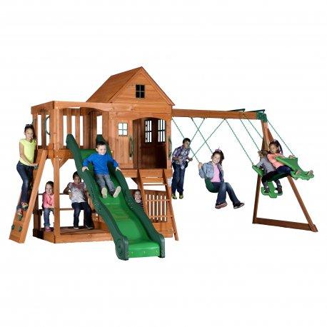 Ogromny Plac Zabaw Domek Huśtawka Zjeżdżalnia