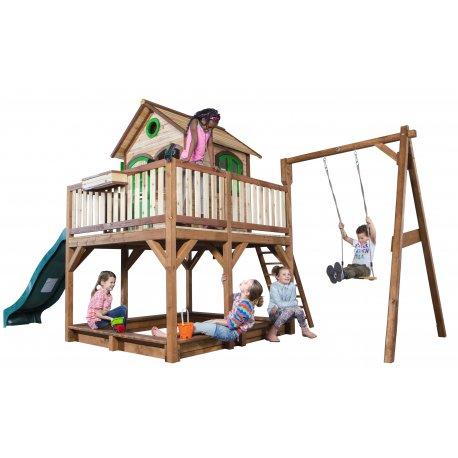 Plac Zabaw Huśtawka Zjeżdżalnia Domek Richmond