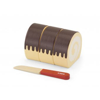 Viga Drewniane Ciasto Rolada do krojenia Nóż