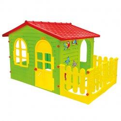 Duży Domek Ogrodowy z Płotkiem dla Dzieci Mochtoys