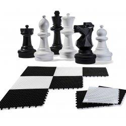 Szachy ogrodowe figury szachowe + Mata Rolly Toys