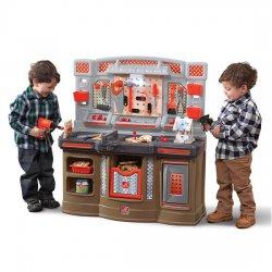 Duży Warsztat dla Dzieci Kącik majsterkowicza Światlo + Akcesoria STEP2
