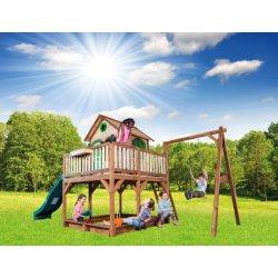 Wielki Plac Zabaw Huśtawka Zjeżdżalnia Domek na palach Richmond