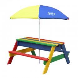 AXI Kolorowy Stół z Ławkami i Parasolem