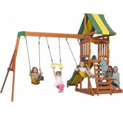 Drewniany Plac zabaw Słoneczna Dolina domek Zjeżdżalnia 6 w 1 Backyard Discovery Step2