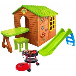 Duży Grillowy Plac Zabaw 3w1 Do Ogrodu Dla Dzieci