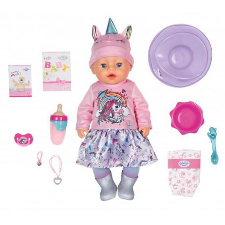 Lalka Interaktywna Baby Born Soft Touch Unicorn Girl 43cm z akcesoriami