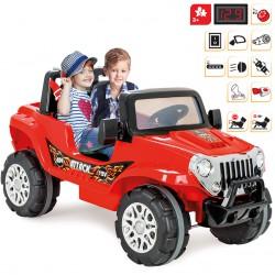 Dwuosobowy Samochód Na Akumulator ATTACK JEEP 12V WOOPIE