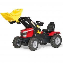 MASSEY FERGUSON Traktor na pedały z łyżką Pompowane koła Rolly Toys rollyFarmtrac