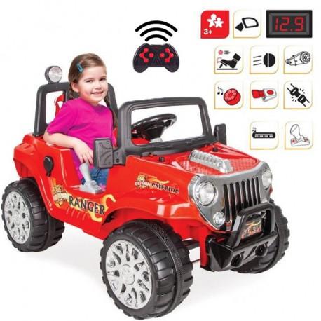 Duży Samochód Na Akumulator Ranger 12V Czerwony WOOPIE