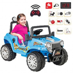 Duży Samochód Na Akumulator Ranger 12V Niebieski WOOPIE