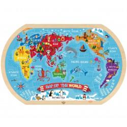 TOOKY TOY Puzzle Mapa Świata 37 el.