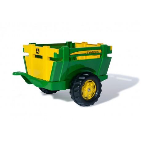 John Deere Przyczepa Rolly Toys rollyTrailer FarmOtwierane Burty