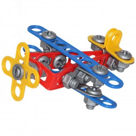 Wader Klocki Konstrukcyjne Mały Wynalazca Samolot 57 elementów