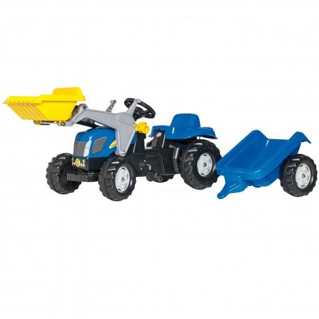 New Holland Rolly Toys rollyKid Traktor z łyżką i przyczepą