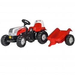 Rolly Toys Traktor na pedały Kid Steyr z przyczepą