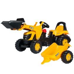 Rolly Toys Kid Traktor na pedały JCB z łyżką i przyczepą