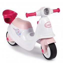 Skuter biało-różowy Corolle Ride On Smoby