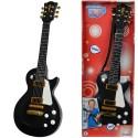 Simba Gitara Elektryczna Rockowa dla Dzieci Dźwięk Struny Czarna