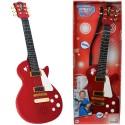 Simba Gitara Elektryczna Rockowa dla Dzieci Dźwięk Struny Czerwona