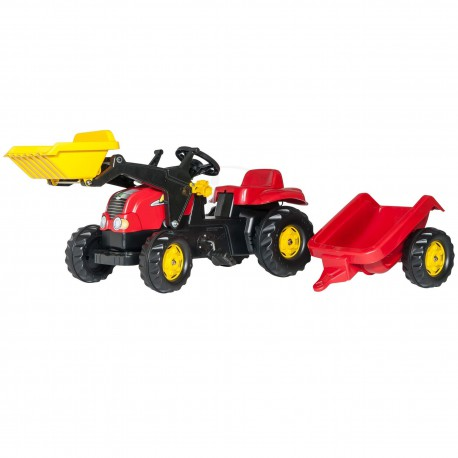 Traktor na Pedały z Łyżką i Przyczepą - Rolly Toys rollyKid   2-5 Lat
