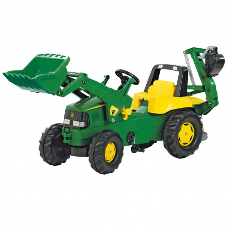Traktor na Pedały - John Deere Rolly Toys rollyJunior + Łyżka + Tur