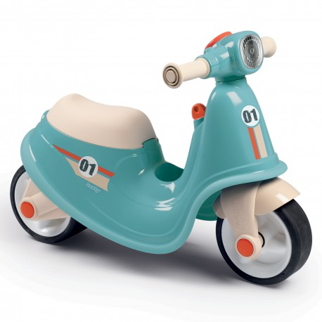 Smoby Niebieski jeździk skuter Ciche koła Scooter