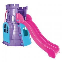 Wieża ze Zjeżdżalnią Zamek Domek Plac Zabaw dla Dzieci