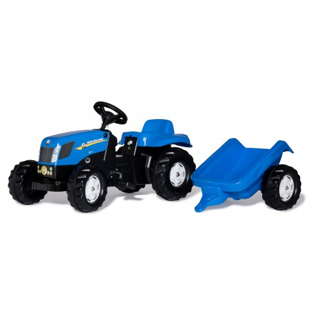 Rolly Toys Traktor na pedały Kid New Holland z przyczepką