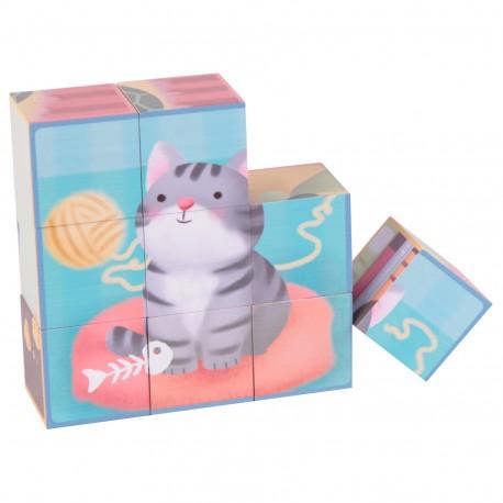 CLASSIC WORLD Układanka Puzzle Zwierzęta 9 el.