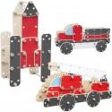CLASSIC WORLD Ogromne Klocki Konstrukcyjne Drewniane Zestaw Pojazdy 99 el.