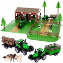 WOOPIE Zestaw Farma ze Zwierzętami Figurki + 2 Traktorki 102 el.