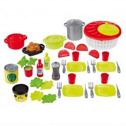 ECOIFFIER Zestaw Śniadaniowy Garnki Jedzenie + 43 Akcesoria