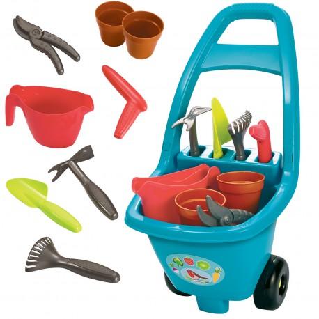 ECOIFFIER Wózek Ogrodowy z Akcesoriami Dla Dzieci