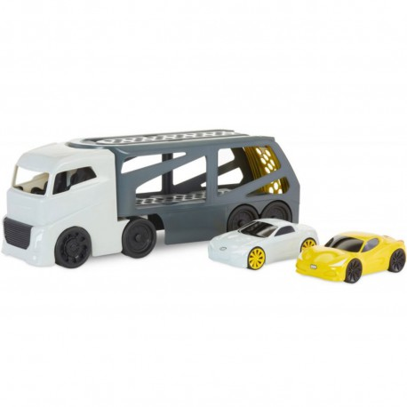 Little Tikes Duża Ciężarówka Laweta + 2 Samochody Osobowe