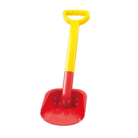 MOCHTOYS Narzędzia Ogrodowe Duża Łopata z Uchwytem dla Dzieci 55 cm Czerwona