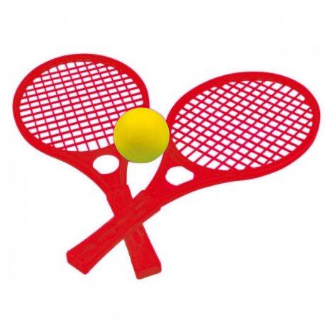 Rakietki Paletki Dla Dzieci Zestaw Czerwony Tenis MOCHTOYS