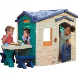 Little Tikes Domek Piknikowy z PATIO z Magicznym Dzwonkiem Granatowo-zielony