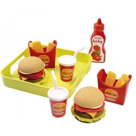 Ecoiffier Zestaw Fast Food akcesoriów