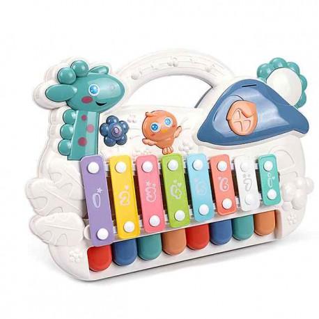 WOOPIE Organki Cymbałki Edukacyjne Pianinko Muzyczne LED 2w1