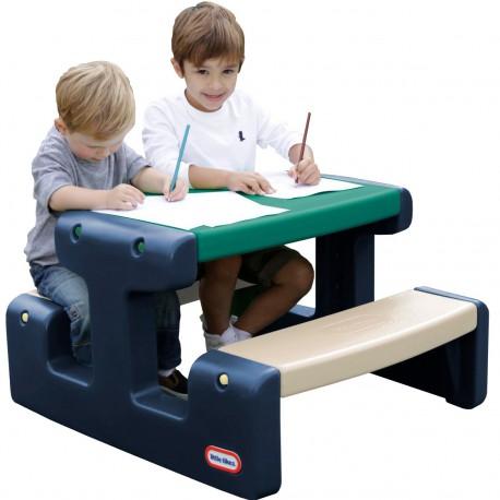 Little Tikes Stolik Piknikowy dla Dzieci Niebiesko-Zielony do Ogrodu