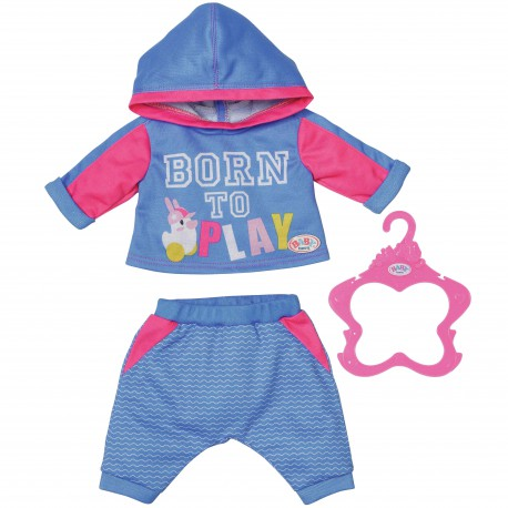 Baby Born Ubrako Dres do Joggingu dla Lalki 43 cm Niebieskie